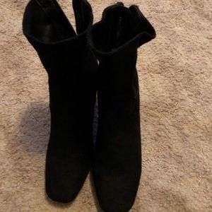 Cute block heel booties.